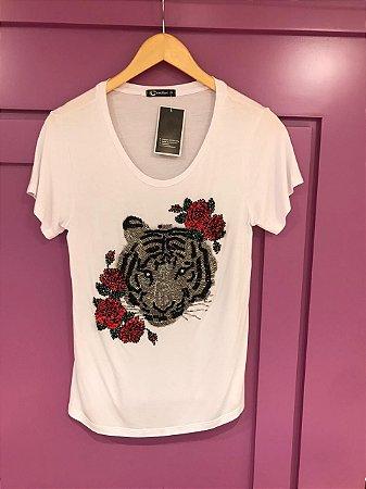 T-shirt Tigre Bordada
