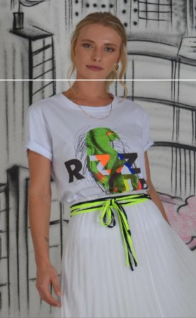 T-shirt Lika Branco