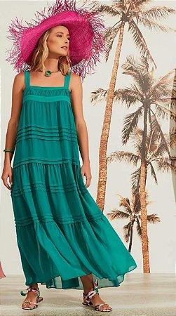 Vestido Elisabete Verde Água