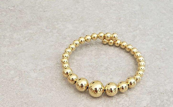 Bracelete Esferas Dourado