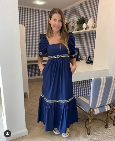 Vestido Kerline Azul Marinho