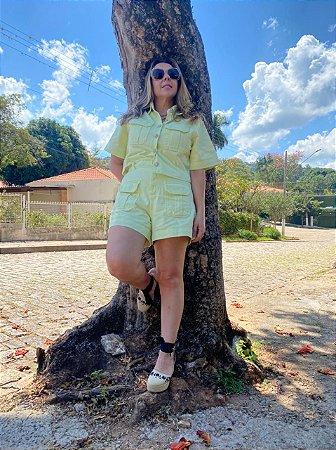 Jaqueta Cropped de Sarja Lima