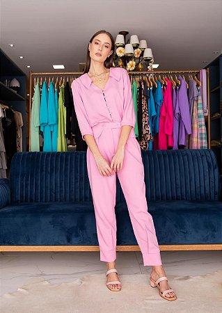 Camisa Jussara Rosa