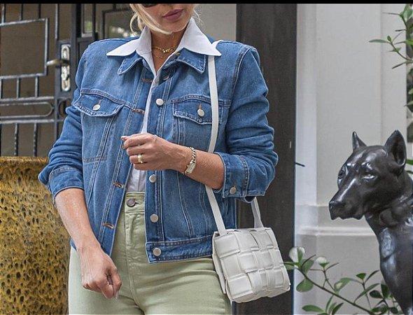 Jaqueta Jeans com ombreira Bebela