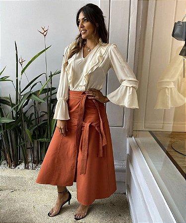 Blusa de crepe Mariana