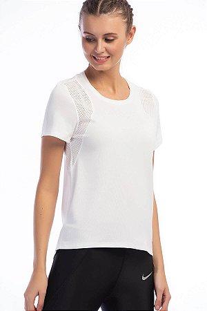 Camiseta Nike Run Manga Curta Run Top 890353-100 Branca