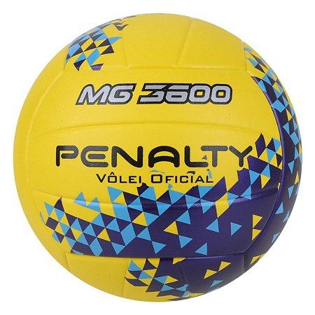 Bola de Vôlei Penalty MG 3600 Fusion VIII - Amarelo+Azul