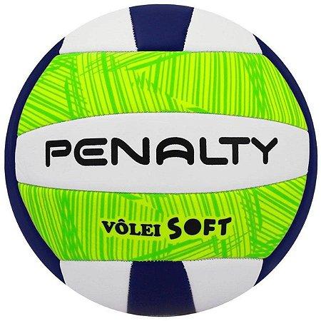 Bola Penalty Vôlei Soft X - Verde+Branco