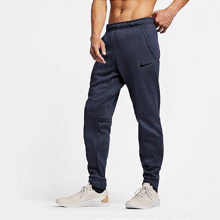 Calça Moletom Nike Therma Taper Masculina - Azul+Preto