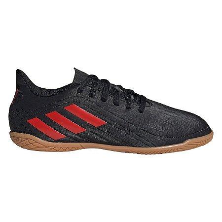 Chuteira Futsal Adidas Deportivo - Preto+Vermelho FV7922