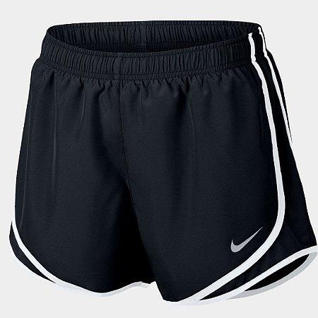 Short Nike Dri-Fit Tempo Feminino - Preto+Branco