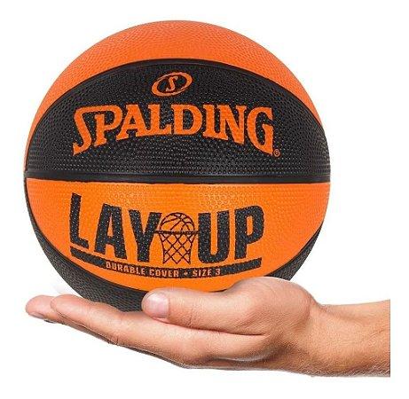Mini Bola De Basquete Spalding - Lay Up - Borracha - Laranja