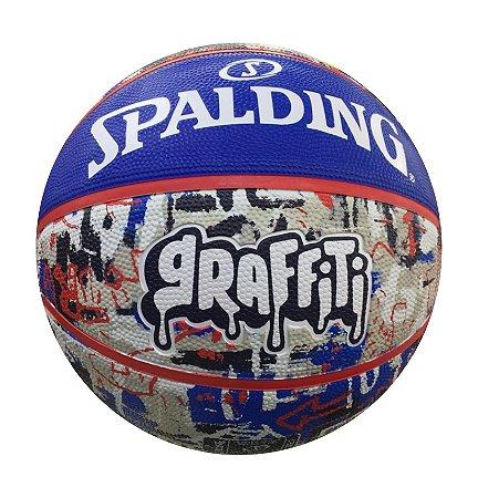 Bola de Basquete Spalding Graffiti Azul e Vermelho