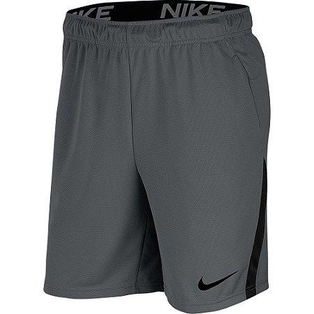 Bermuda Nike Dri-Fit 5.0 Masculina - Cinza+Preto