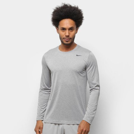 Camiseta Manga Longa Nike Legend Trainning 2.0 Masculina - Cinza