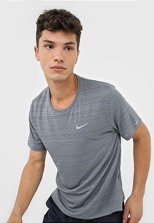 Camiseta Nike M Nk Df Miler Cinza Masculina