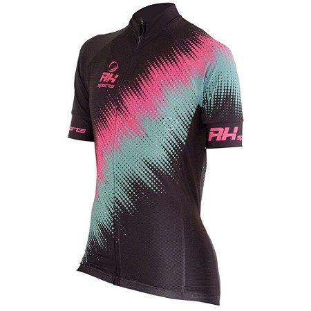 Camisa Ciclismo Feminina RH-23 Preto RH Sports Bike