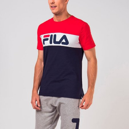 Camiseta Fila Masculino Letter Colors
