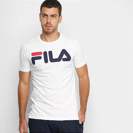 Camiseta Fila Masculino Letter - Branco