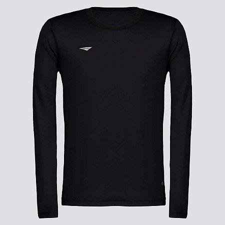 Camiseta Penalty Matis Manga Longa Juvenil - Preto