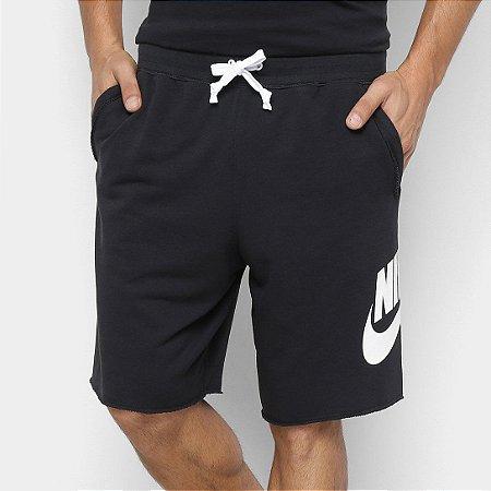 Bermuda Moletom Nike Masculino French Terry Alumni