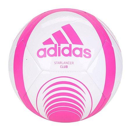 Bola de Futebol Campo Adidas Starlancer Branco+Rosa