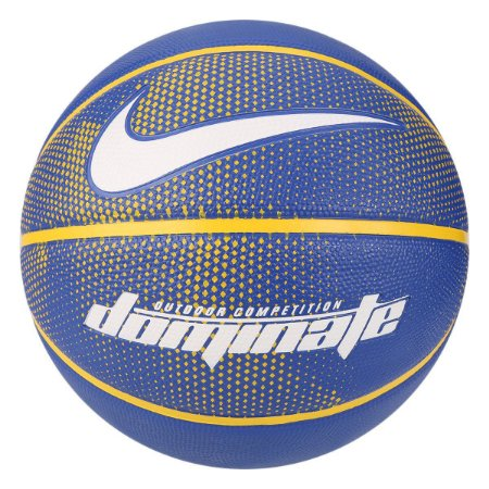 Bola de Basquete Nike Dominate 8P Tam 7 - Azul+amarelo