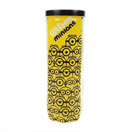 Bola de Tênis Wilson Minions Tubo c/ 3 - Amarelo