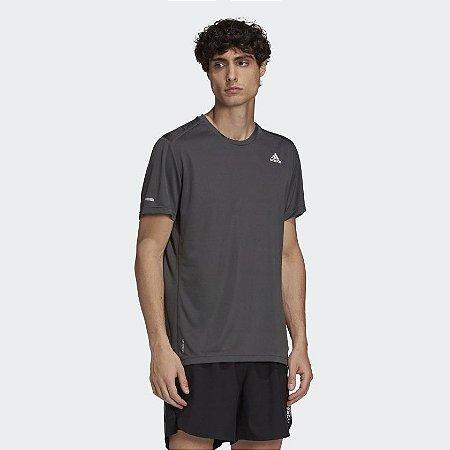 Camiseta Run It Adidas Masculino - Cinza