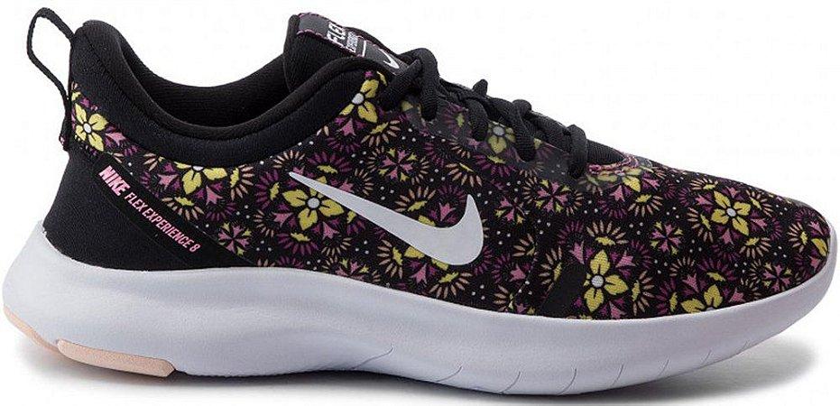Tênis Nike Flex Experience Rn 8 SE Feminino - Preto e Rosa BQ9262-001