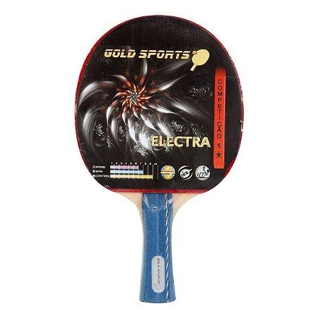 Raquete Tenis De Mesa Gold Sports Electra - Azul e Preto
