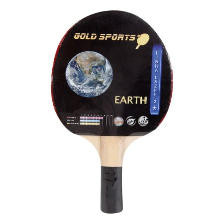 Raquete Tenis De Mesa Gold Sports Earth - Colorido