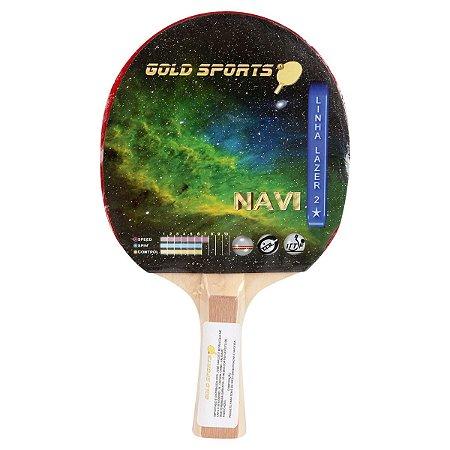 Raquete Tenis De Mesa Gold Sports Navi - Colorido