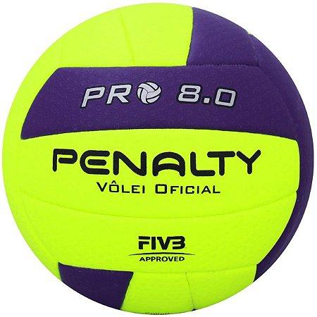 Bola Vôlei Penalty 8.0 Pro IX - Verde e Roxo