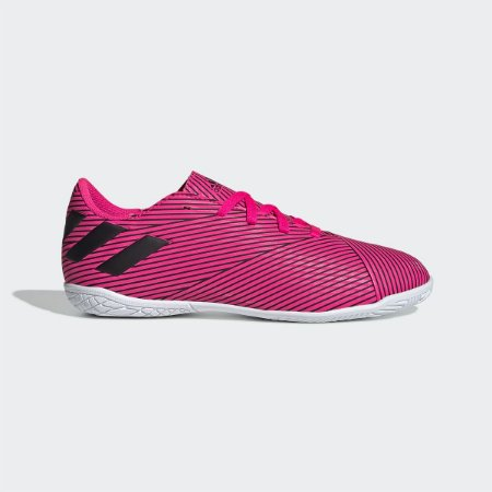 Chuteira Futsal Juvenil Adidas Nemeziz 19 4 IN - Pink e Preto F99939