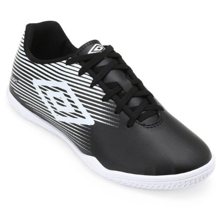 Chuteira Futsal Umbro F5 Light - Preto e Branco OF72122