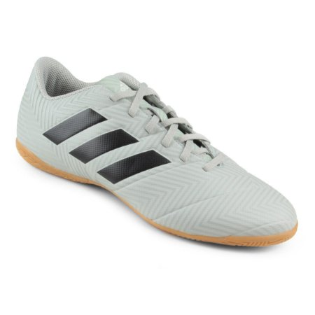 Chuteira Futsal Adidas Nemeziz Tango 18 4 IN - Cinza e Preto DB74994
