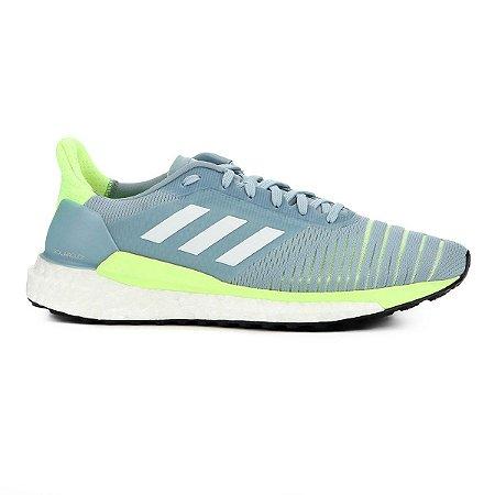 Tênis Adidas Solar Glide Boost Feminino - Azul Piscina e Verde D97427