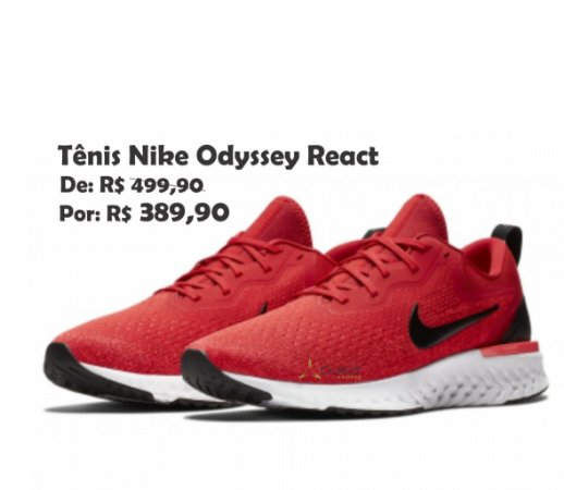 Tênis Nike Odyssey React 2 Flyknit AO9819-601