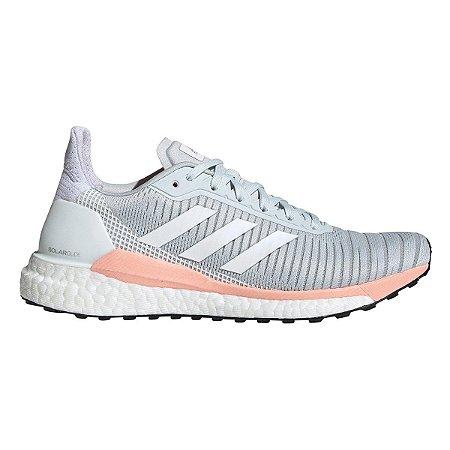 Tênis Adidas Solar Glide Boost Feminino - Branco e Salmão