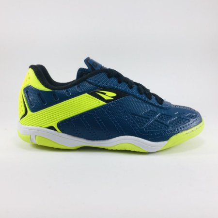 Chuteira Dray Futsal Indoor Infantil - Marinho/Verde limão