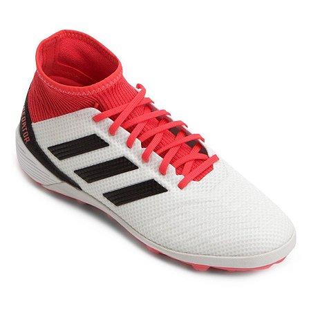 Chuteira Society Adidas Predator 18 3 TF - Bca/Verm  Promoção de 449,90 Por 299,90