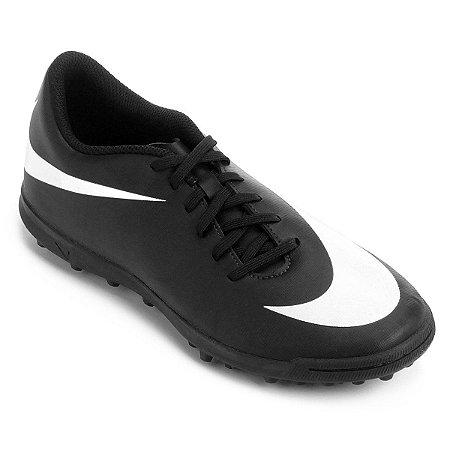 Chuteira Society Nike Bravata 2 TF - Pto/Bco Promoção de 199,90 Por 139,90