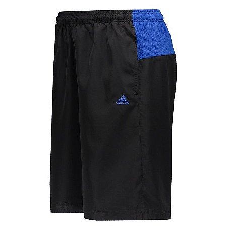 Bermuda Adidas Colourblock Preta e Azul CW5193