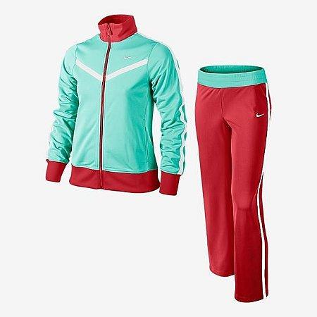 Agasalho Nike Infantil T40 Feminino Verde/Vermelho 588989-370