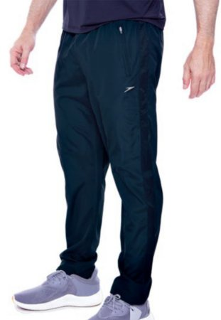 Calça Speedo Masculina Microfibra Active Zipper - Navy Blue