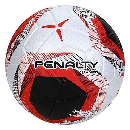 Bola de Futebol Campo Penalty S11 Torneio X - Branco e Vermelho