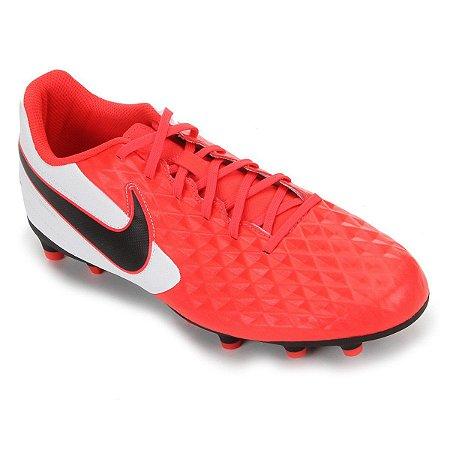 Chuteira Campo Nike Tiempo Legend 8 Club - Vermelho e Preto AT6107-606