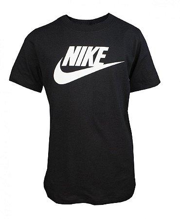 Camiseta Infantil Nike Futura Icon Preto/Branco AR5252-010
