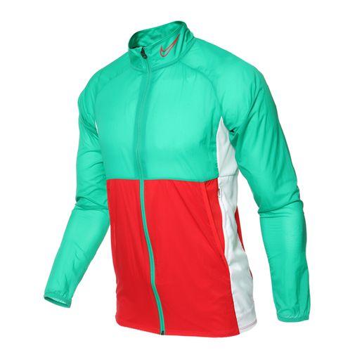 Jaqueta Nike Nk Dry Acdmy Verde/Vermelho BQ7346-319 Corta Vento